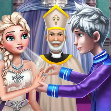 ELSA Frozen wedding ceremony